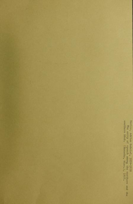 A. G. (Adrien Gabriel), 1859-1938 Morice - The unity of speech among the northern and the southern Déné