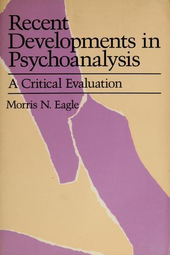 Download Recent developments in psychoanalysis