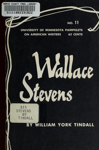 Wallace Stevens by William York Tindall