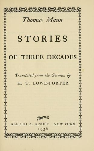Download Stories of three decades