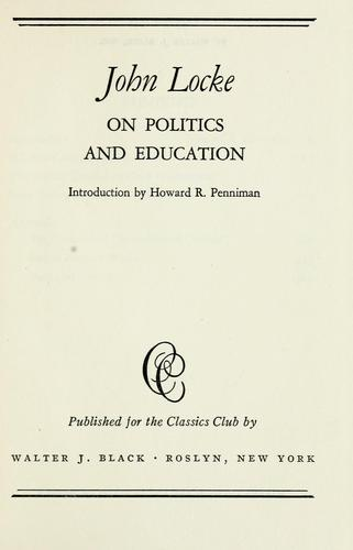 On politics and education by John Locke