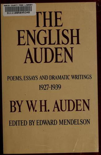 The English Auden