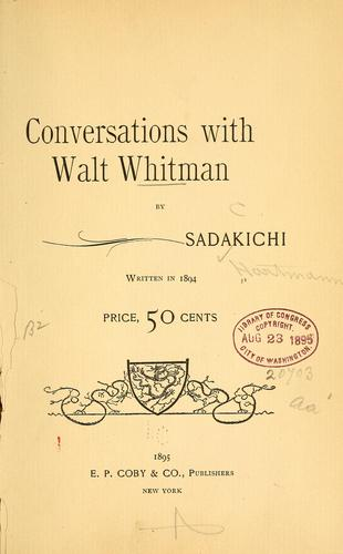Download Conversations with Walt Whitman