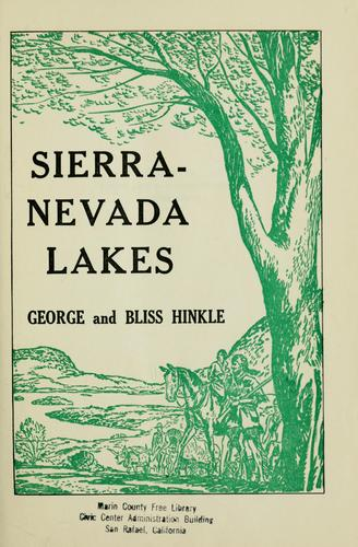 Download Sierra-Nevada lakes