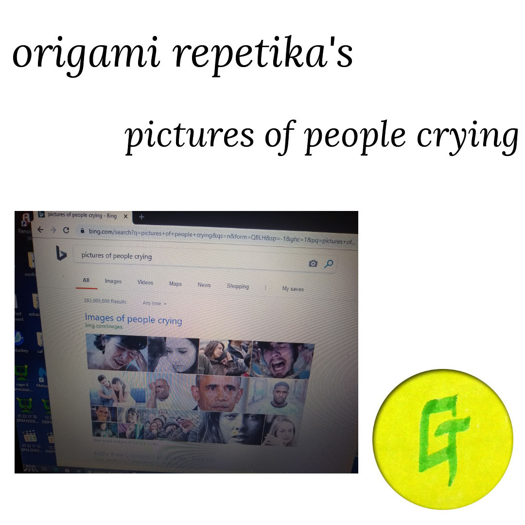 origami repetika  – pictures of people crying