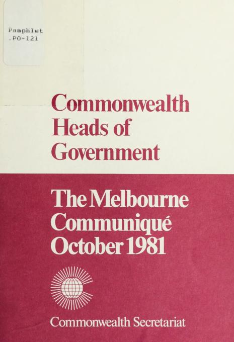 Commonwealth Heads of Government by The Commonwealth Secretariat