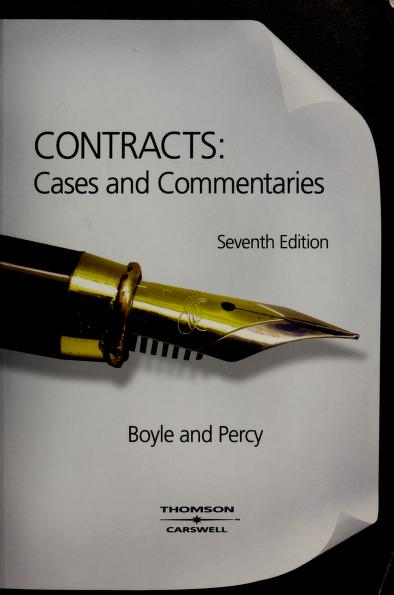 Contracts by edited by Christine Boyle and David R. Percy.