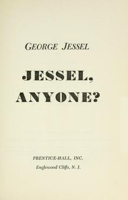 Cover of: Jessel, anyone?   George Jessel