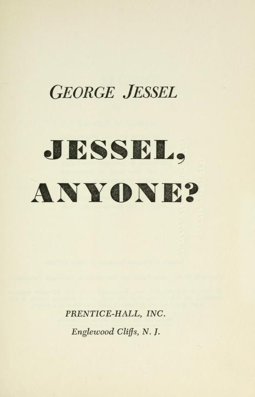 Jessel, anyone? by George Jessel