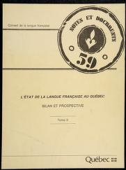 Cover of: L' État de la langue française au Québec | textes colligés et présentés par Gérard Lapointe et Michel Amyot.