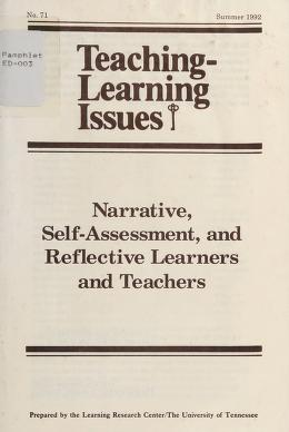 Cover of: Narrative, self-assessment, and reflective learners and teachers   Mary Kay Kramp