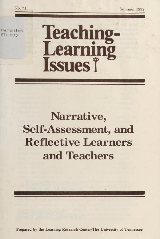 Narrative, self-assessment, and reflective learners and teachers by Mary Kay Kramp