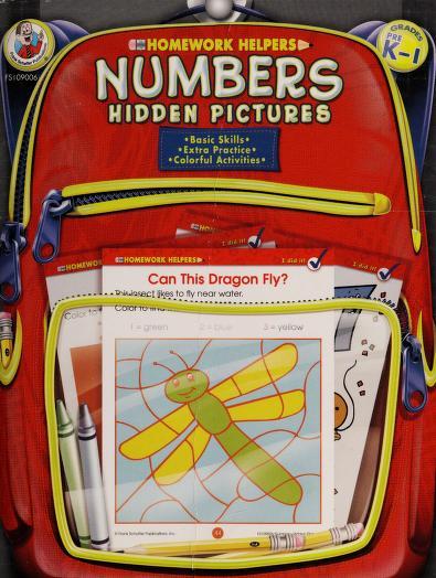 Homework Helper Numbers Hidden Pictures, Grades PreK to 1 (Homework Helpers) by School Specialty Publishing