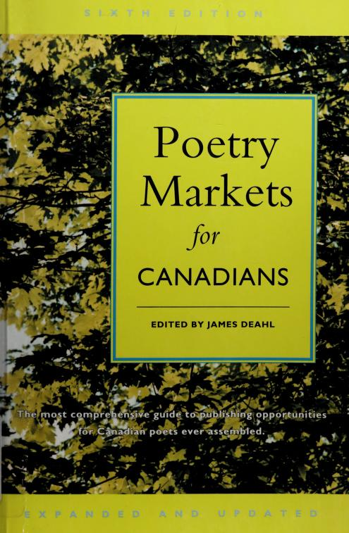 Poetry Markets for Canadians by James Deahl