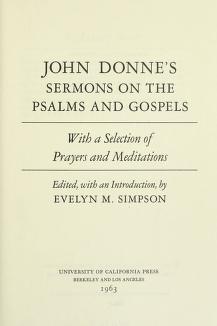 Cover of: Sermons on the Psalms and Gospels | John Donne