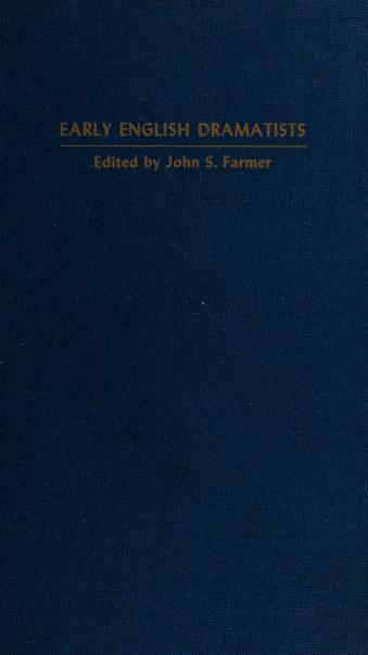 Cover of: Six anonymous plays | Farmer, John Stephen
