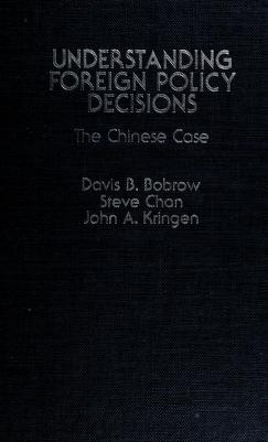 Cover of: Understanding foreign policy decisions | Davis B. Bobrow