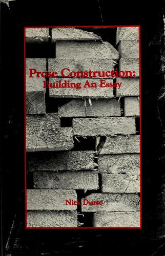 Prose construction by Nick Durso