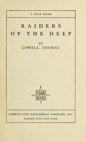 Raiders of the deep by Thomas, Lowell