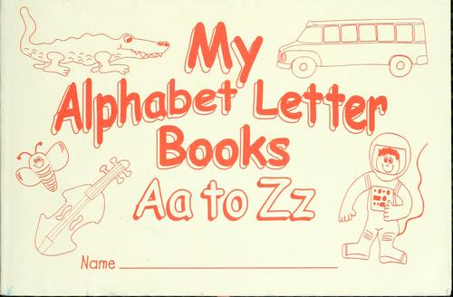 My alphabet letter books, Aa to Zz by