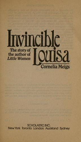 Invincible Louisa by Cornelia Meigs