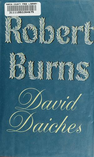 Robert Burns by David Daiches