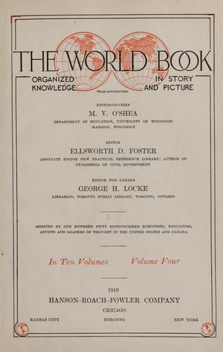 The World book by O'Shea, M. V.