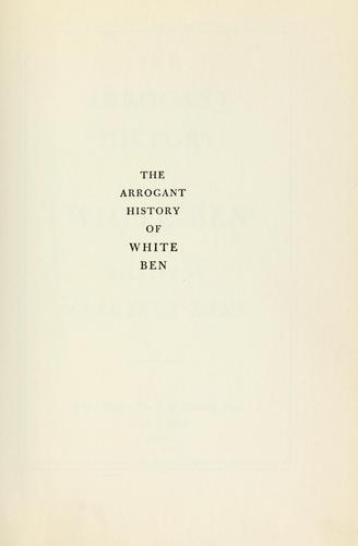The arrogant history of White Ben by Clemence Dane