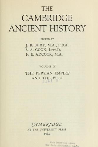 The Persian Empire and the West by J. B. Bury