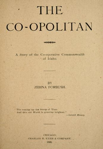 The co-opolitan by Zebina Forbush