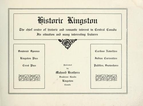Historic Kingston by Mahood Brothers