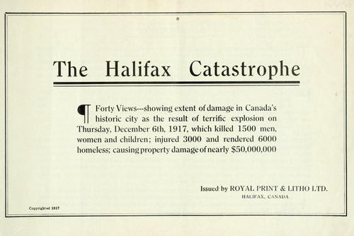 The Halifax catastrophe by