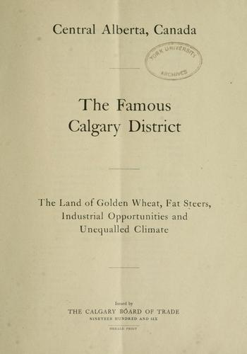 The famous Calgary district by Calgary Board of Trade