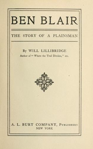 Ben Blair by William Otis Lillibridge