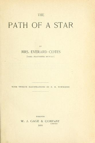 The path of a star by Cotes, Everard Mrs