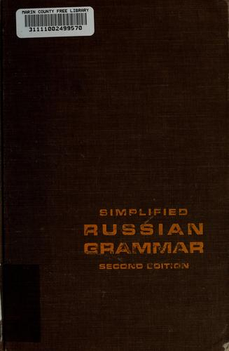 Simplified Russian grammar by Mischa H. Fayer
