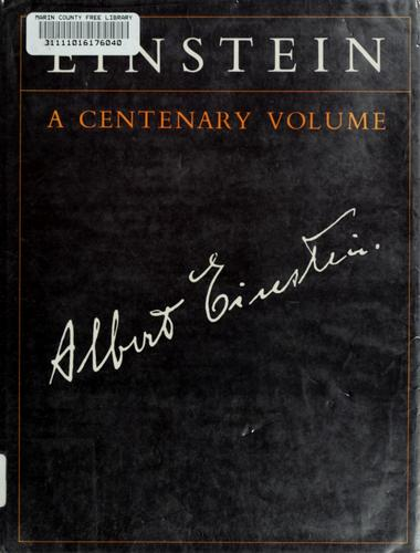Einstein by edited by A. P. French.