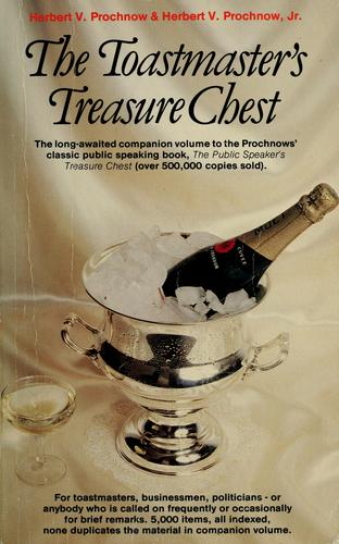 The toastmaster's treasure chest by Herbert V. Prochnow
