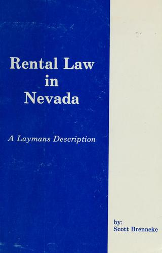 Rental law in Nevada by Scott Brenneke